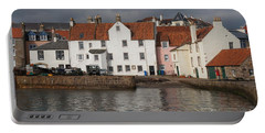 Houses At Pittenweem Harbor Portable Battery Charger