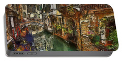 Houses In Venice Italy Portable Battery Charger by Georgi Dimitrov