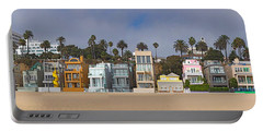 Houses On The Beach, Santa Monica, Los Portable Battery Charger by Panoramic Images