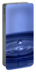 Hovering Blue Water Drop Portable Battery Charger