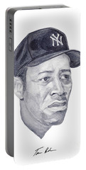 Portable Battery Charger featuring the painting Howard by Tamir Barkan