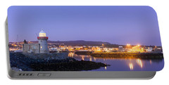 Howth Harbour Lighthouse Portable Battery Charger by Semmick Photo