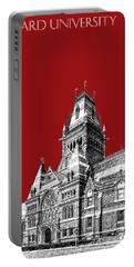 Harvard University - Memorial Hall - Dark Red Portable Battery Charger