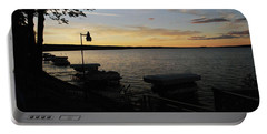 Hubbard Lake Sunset Portable Battery Charger