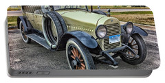 Portable Battery Charger featuring the photograph hudson 1921 phaeton car HDR by Paul Fearn