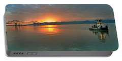 Hudson River Sunset Portable Battery Charger