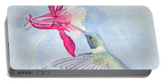 Hummingbird And Columbine Portable Battery Charger