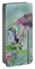 Hummingbird And Coneflowers Portable Battery Charger