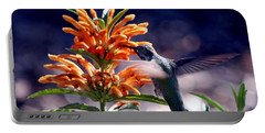 Portable Battery Charger featuring the photograph Hummingbird Delight by AJ  Schibig