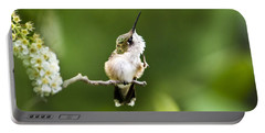 Portable Battery Charger featuring the photograph Hummingbird Flexibility by Christina Rollo