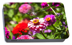 Hummingbird Flight Portable Battery Charger by Garry Gay
