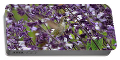 Hummingbird Flowers Portable Battery Charger