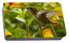 Hummingbird Looking For Food Portable Battery Charger by Heiko Koehrer-Wagner