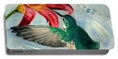 Hummingbird Portable Battery Charger by Melly Terpening