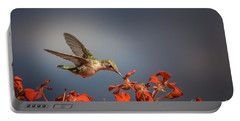 Hummingbird Or My Summer Visitor Portable Battery Charger