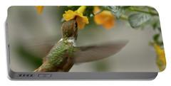 Hummingbird Sips Nectar Portable Battery Charger