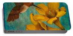 Hummingbird With Yellow Jasmine Portable Battery Charger