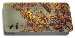 Hummingbirds On Yellow Tree Portable Battery Charger