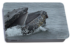 Portable Battery Charger featuring the photograph Humpback Whale  Lunge Feeding 2013 In Monterey Bay by California Views Mr Pat Hathaway Archives