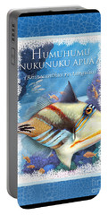 Portable Battery Charger featuring the digital art Humuhumunukunukuapua'a by Randy Wollenmann