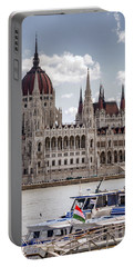 Hungarian Parliament Across The Danube Portable Battery Charger