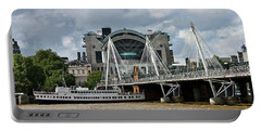Hungerford Bridge And Charing Cross Portable Battery Charger
