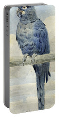 Hyacinthine Macaw Portable Battery Charger by Henry Stacey Marks
