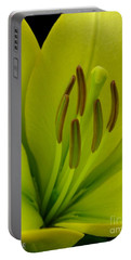 Portable Battery Charger featuring the photograph Hybrid Lily Named Trebbiano by J McCombie