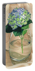 Hydrangea Blossom Portable Battery Charger by Barbara Jewell