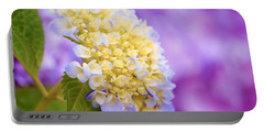 Hydrangea On Purple Portable Battery Charger