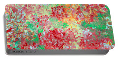 Portable Battery Charger featuring the painting Hydrangeas II by Alys Caviness-Gober