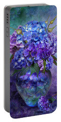 Hydrangeas In Hydrangea Vase Portable Battery Charger