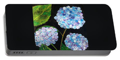 Hydrangeas  Portable Battery Charger by Reina Resto