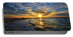 Hypnotic Sunset At Israel Portable Battery Charger by Ron Shoshani