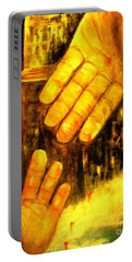 Portable Battery Charger featuring the painting I Chose You by Hazel Holland