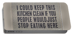 I Could Keep This Kitchen Clean Portable Battery Charger