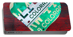 I Heart Colorado License Plate Art Portable Battery Charger