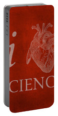 I Heart Science Humor Poster Portable Battery Charger