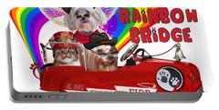 I Helped My Pet Cross Rainbow Bridge Portable Battery Charger