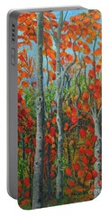 I Love Fall Portable Battery Charger by Holly Carmichael