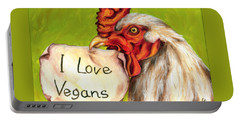 I Love Vegans Portable Battery Charger
