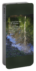 Portable Battery Charger featuring the photograph I Reflect by Patrice Zinck