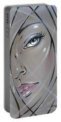 Portable Battery Charger featuring the painting I Want The Truth 310811 by Selena Boron