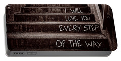 I Will Love You Portable Battery Charger by Bob Orsillo