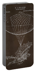 Portable Battery Charger featuring the drawing Icarus Airborn Patent Artwork Espresso by Nikki Marie Smith