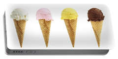 Ice Cream In Sugar Cones Portable Battery Charger