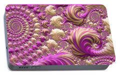 Portable Battery Charger featuring the digital art Ice Cream Social by Susan Maxwell Schmidt