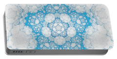 Portable Battery Charger featuring the digital art Ice Crystals by GJ Blackman