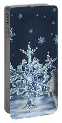 Ice Crystals Portable Battery Charger