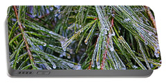 Ice On Pine Needles  Portable Battery Charger